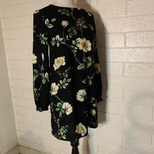 H&M Floral Long Sleeve Dress Size 2